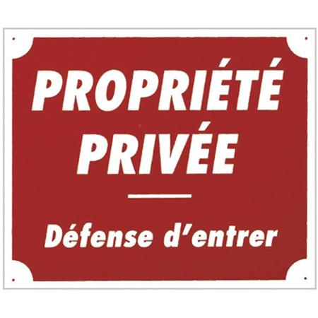 PANNEAU DE SIGNALISATION EUROP ARM PROPRIETE PRIVEE