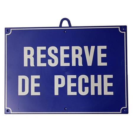 PANNEAU DE SIGNALISATION JANUEL RESERVE DE PECHE