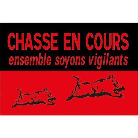PANNEAU DE SIGNALISATION LIGNE VERNEY-CARRON CHASSE EN COURS