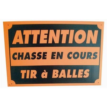 PANNEAU DE SIGNALISATION VITEX CHASSE EN COURS