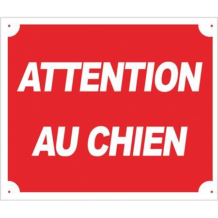 PANNEAU SIGNALISATION EUROP ARM ATTENTION AU CHIEN