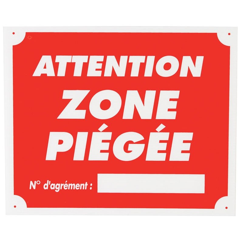 panneau signalisation januel attention zone piegee. Black Bedroom Furniture Sets. Home Design Ideas