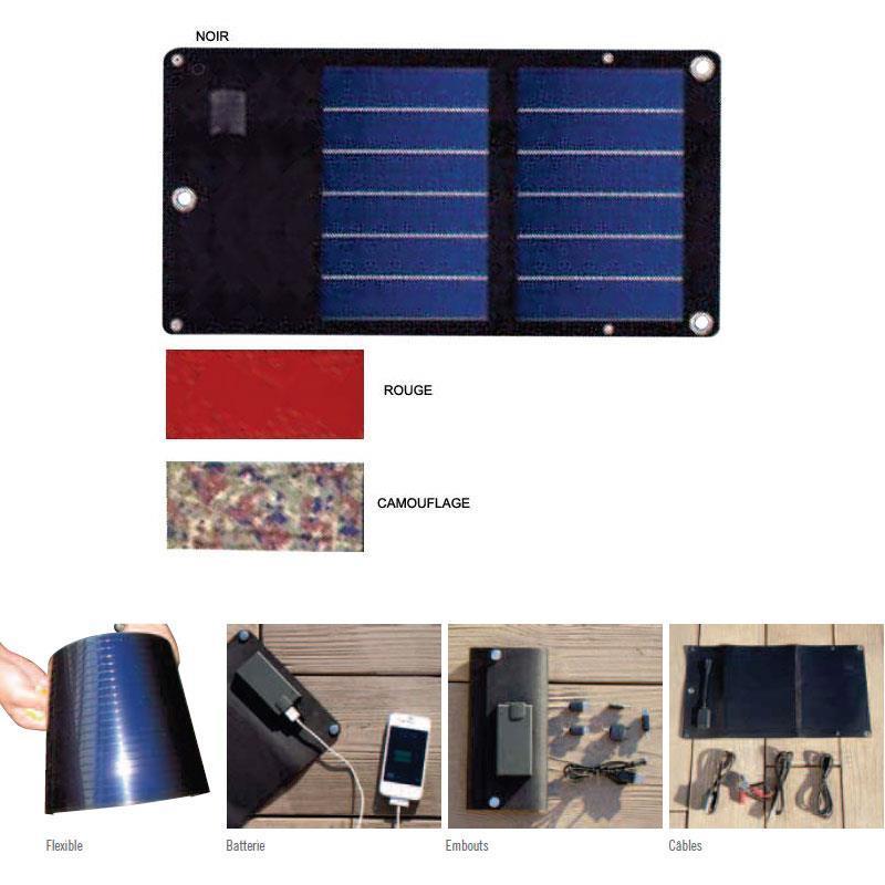 Panneau solaire flexible et pliable mc marine 6 watts - Achat panneau solaire ...