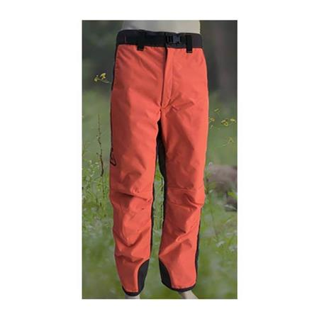 PANTALON DE TRAQUE HOMME F.P CONCEPTS CAYENNE ENDUIT DEVANT - ORANGE/MARRON