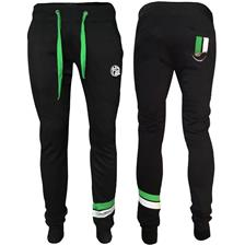 PANTALON HOMME HOT SPOT DESIGN HS WITH PIQUET STRIPES GREEN - NOIR