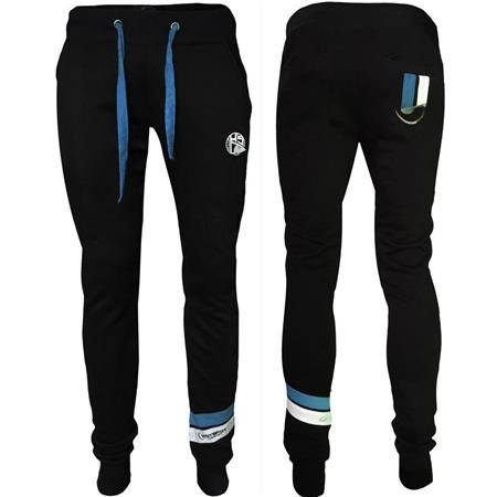 PANTALONE UOMO HOT SPOT DESIGN HSD WITH PIQUET STRIPES BLUE - NERO