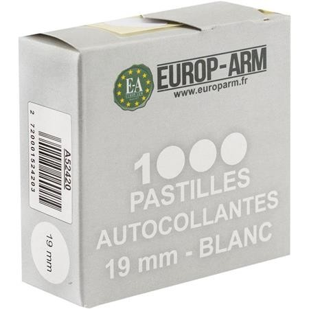 PASTILLE AUTOCOLLANTE EUROP ARM BLANC