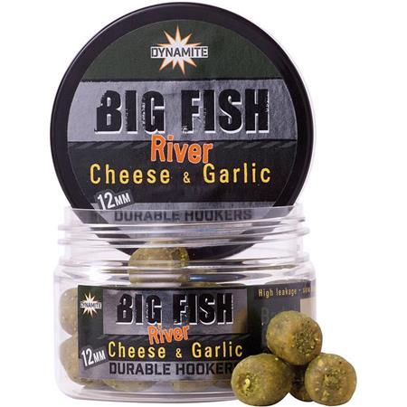 PELLET D'ESCHAGE DYNAMITE BAITS BIG FISH RIVER DURABLE HOOKERS CHEESE & GARLIC