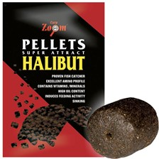 PELLET VOOR GEBOORD SUPER CARP ZOOM SUPER ATTRACT HALIBUT