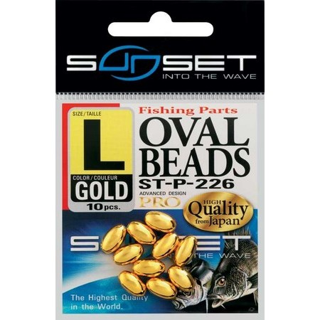 PERLES DURES OVALES SUNSET OVAL BEADS ST-P-226 - PACK