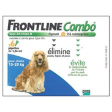 PIPETTE INSECTICIDE FRONTLINE COMBO CHIEN M 10-20KG