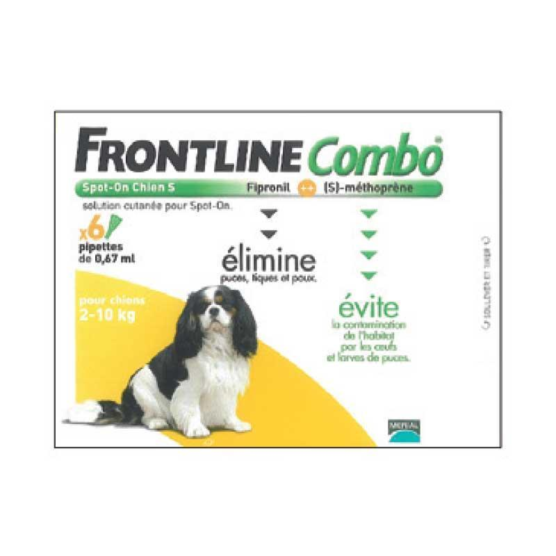 PIPETTE INSECTICIDE FRONTLINE COMBO CHIEN S 2-10KG - 4 pipettes