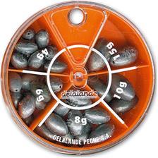 Tying Delalande PLOMB CARNASSIER BOITE 5 CASES OLIVE BOMBEE 101040
