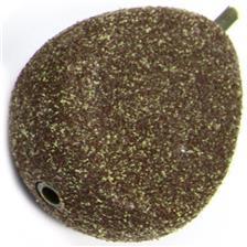 PLOMO CARPA NASH IN-LINE FLAT PEAR WEED/SILT - PAQUETE DE 10