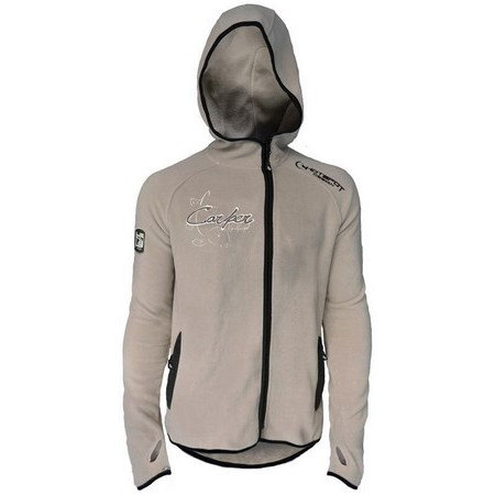 POLAIRE HOMME HOT SPOT DESIGN POLAR FLEECE CARPER - GRIS