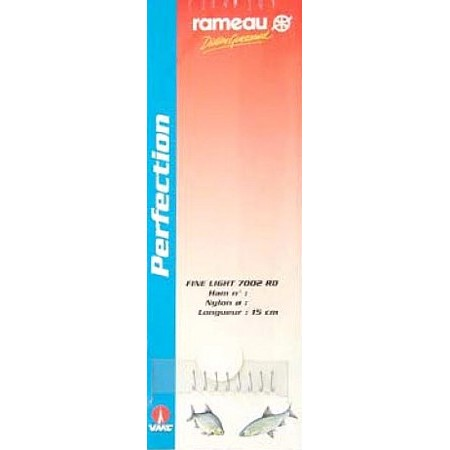 POLE FISHING READY-RIG COMPETITION RAMEAU 7002RD - PACK OF 8