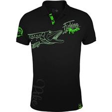 Habillement Hot Spot Design FISHING MANIA PIKE POLO HOMME NOIR XL