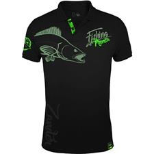 POLO HOMME HOT SPOT DESIGN FISHING MANIA ZANDER - NOIR