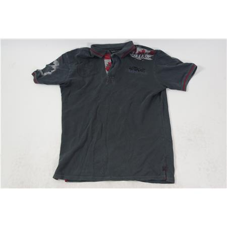 POLO HOMME HOT SPOT DESIGN PIKER CANADA - GRIS - M OCCASION