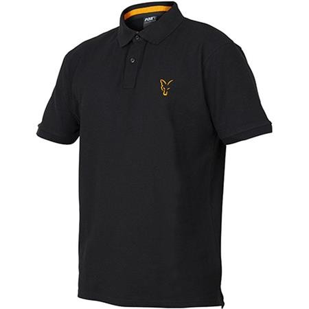 POLO HOMME MANCHES COURTES FOX COLLECTION BLACK/ORANGE