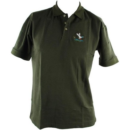 POLO MANCHES COURTES HOMME PERCUSSION BRODE - KAKI