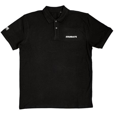 POLO MANCHES COURTES HOMME STARBAITS BANK - NOIR