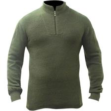 POLO MANCHES LONGUES HOMME ARMSCO 200G MERINOS - VERT