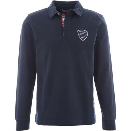 POLO MANCHES LONGUES HOMME BERMUDES GENEVE - NAVY