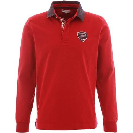 POLO MANCHES LONGUES HOMME BERMUDES GENEVE - RUBIS