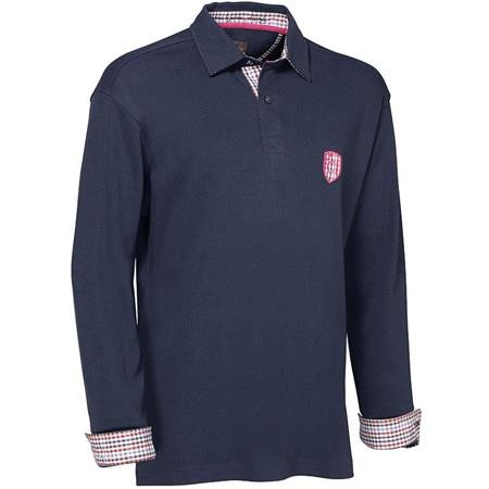 POLO MANCHES LONGUES HOMME CLUB INTERCHASSE NOEL - BLEU MARINE
