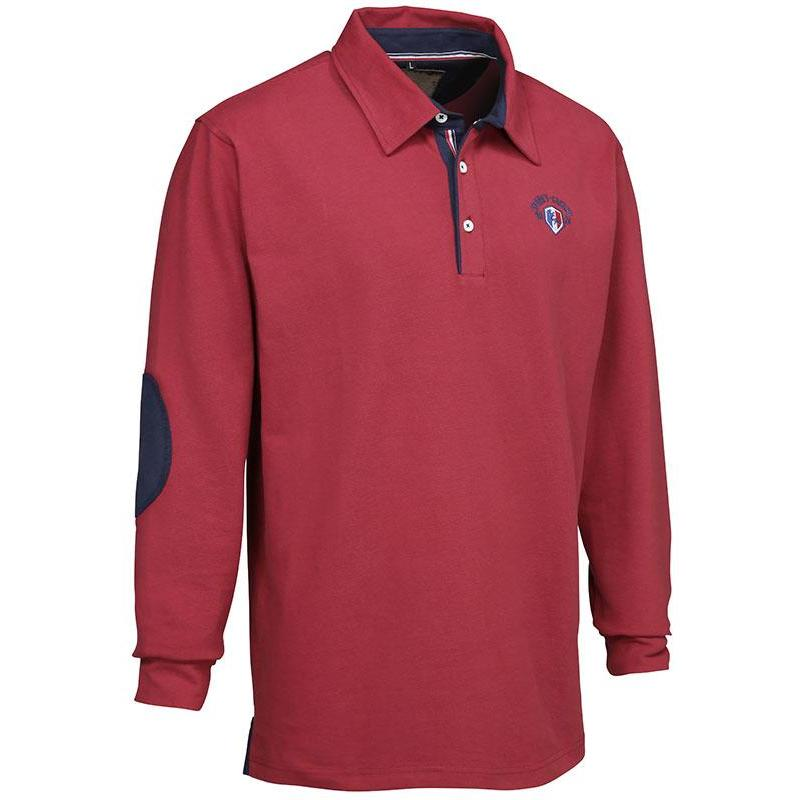 f5c67fb69390a Polo manches longues homme ligne verney-carron casual - rouge