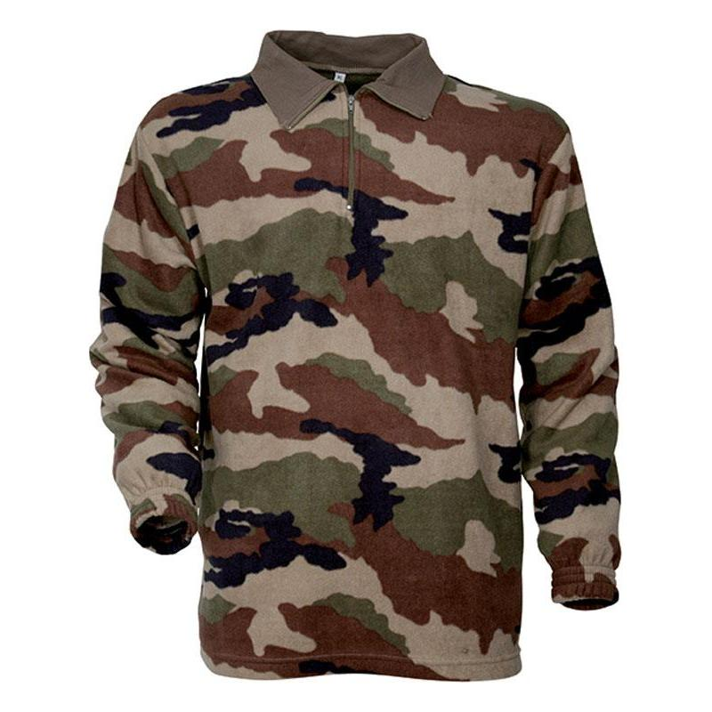 POLO MANCHES LONGUES HOMME PERCUSSION F1 POLAIRE - CAMO - S