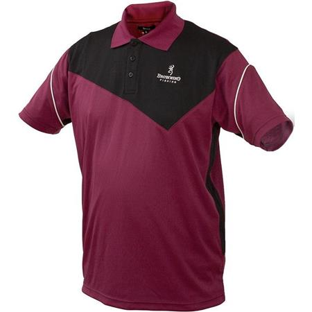 POLO SHIRT UOMO BROWNING DRY FIT POLO - NERO/PRUGNA