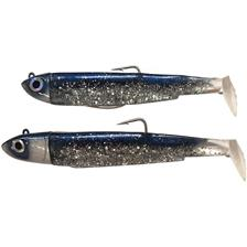 PRE-RIGGED SOFT LURE FIIISH DOUBLE COMBO BLACK MINNOW 120