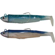 PRE-RIGGED SOFT LURE FIIISH DOUBLE COMBO BLACK MINNOW 120 + JIG HEAD SEARCH