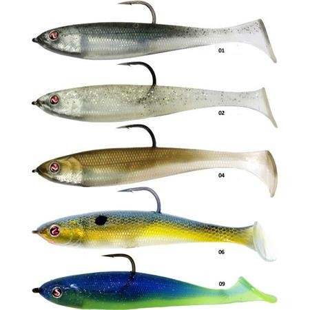 PRE-RIGGED SOFT LURE RIVER2SEA RIG WALKER - 12CM - PACK OF 3