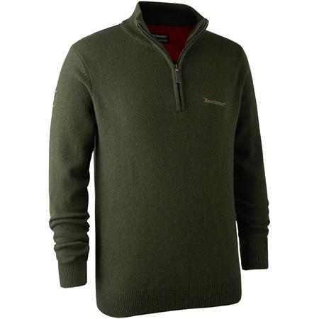 PULL HOMME DEERHUNTER HASTING KNIT - GREEN