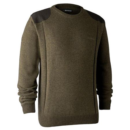 PULL HOMME DEERHUNTER SHEFFIELD WITH O-NECK - CYPRESS