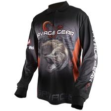 PULL HOMME SAVAGE GEAR TOURNAMENT JERSEY PIKE/ZANDER/ - NOIR