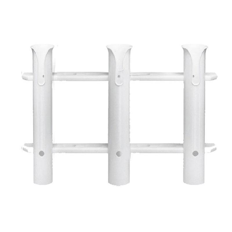 RATELIER DE CLOISON PLASTIMO -  PVC rigide, pour 3 cannes à pêche