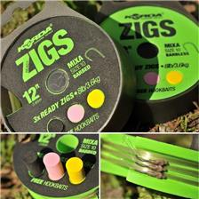 READY-MADE RIG CARP KORDA READY TIED ZIGS