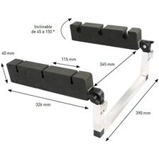 ROD HOLDER AMIAUD PARA PATO FOR FLOAT TUBE - ALU/MOUSSE
