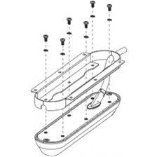 SABOT DE MONTAGE A VISSER LOWRANCE POUR SONDE TA STRUCTURE SCAN 3D FLUSH