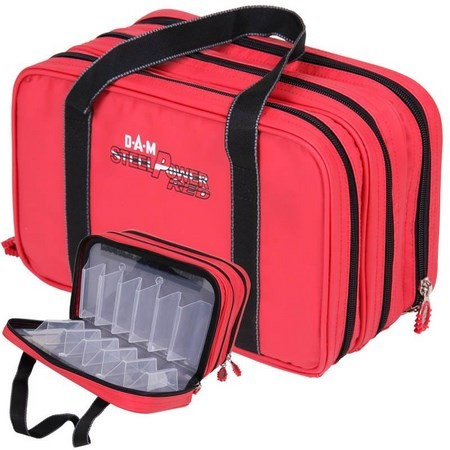 SAC DE TRANSPORT DAM STEELPOWER RED - WATER REPELLENT LURE BAG