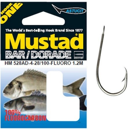 SALTWATER HOOK TO NYLON MUSTAD 528 AD IN 1.20M