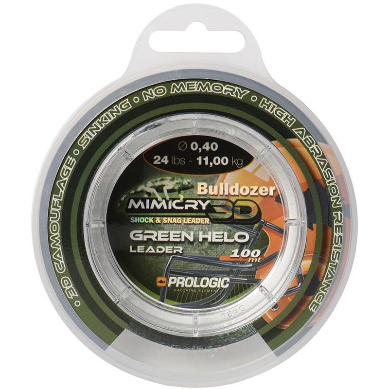 Prologic Bulldozer Snag Leader 100 m Green /& black camo