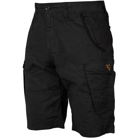 SHORT HOMME FOX COLLECTION BLACK & ORANGE COMBAT SHORTS - NOIR