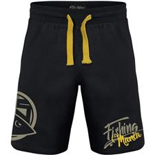 SHORT HOMME HOT SPOT DESIGN FISHING MANIA - NOIR/JAUNE