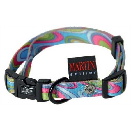 SIXTIES NYLON  ADJUSTABLE DOG COLLAR MARTIN SELLIER SIXTIES