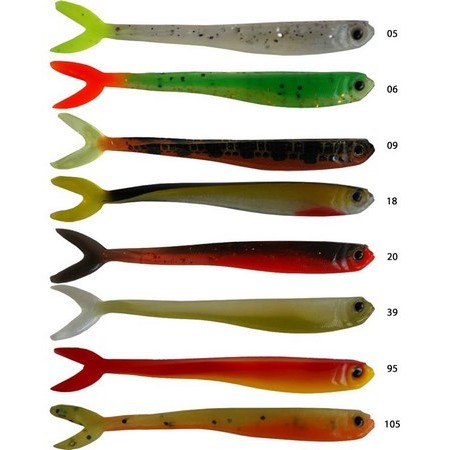 SOFT LURE AMS FINSLOW - PACK OF 8